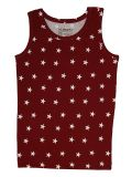 Girls`Tanktop Red with stars